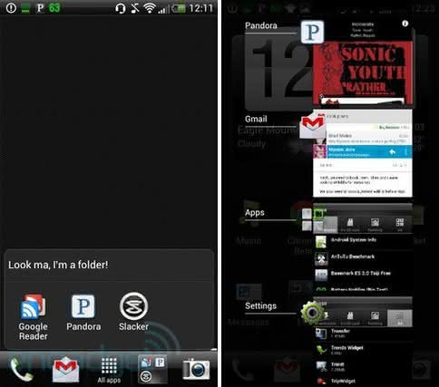 Sense 3.6 Folder Multitasking