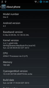 CyanogenMod 10.2 альфа для HTC One XL