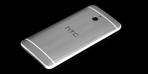Платиновый HTC One mini