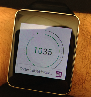 OneNote на Android Wear
