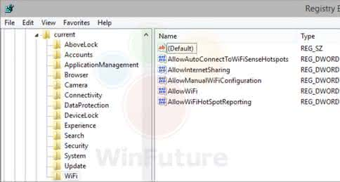 Wi-Fi Sense в Windows 9