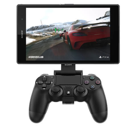 Sony Xperia Z3 Tablet Compact с геймпадом от PS4