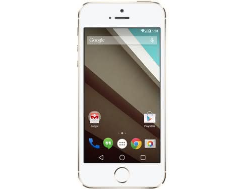 Android L на iPhone 5S