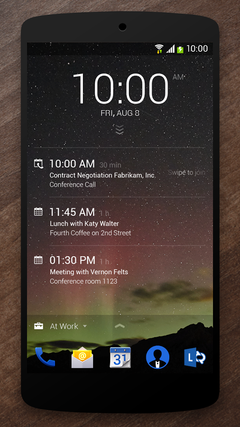 Next Lock Screen на Nexus 5
