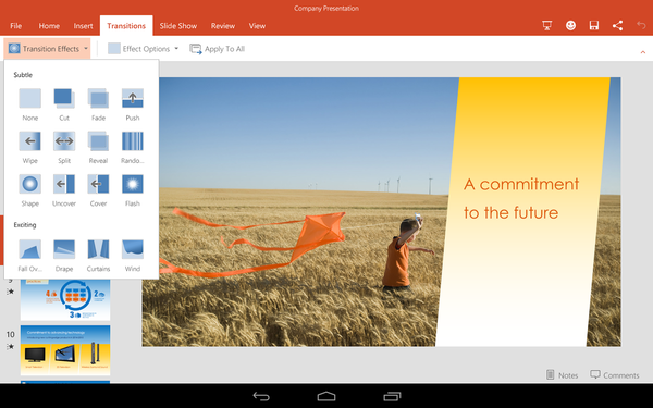 Microsoft PowerPoint для Android