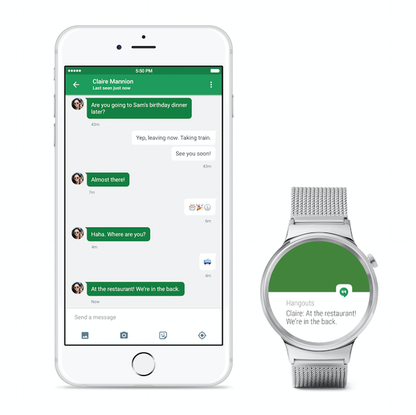 iPhone и часы на Android Wear
