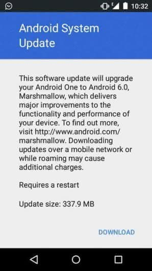 Смартфоны Android One получают Android 6.0 Marshmallow