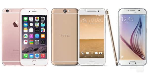 HTC One A9, iPhone 6S и Galaxy S6
