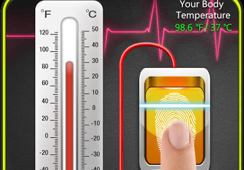 Finger Body Temperature Prank для Android