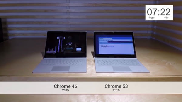 Surface Book и разные версии Google Chrome
