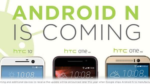 Android N поступит на HTC 10, One M9 и One A9