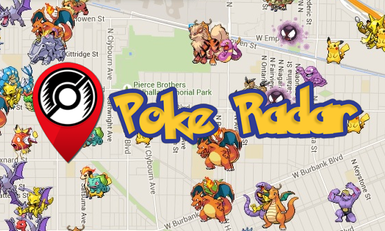 Poke Radar: карта покемонов Pokemon Go