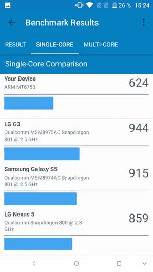 Alcatel IDOL 5 в GeekBench