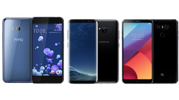 Сравнение HTC U11, Samsung Galaxy S8 и LG G6